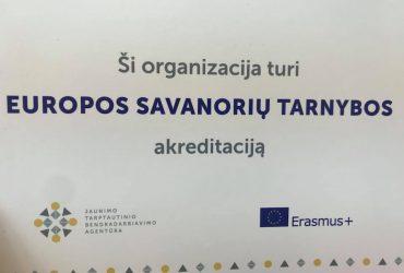 Gargždų atviras jaunimo centras jau turi Europos savanorių tarnybos akreditaciją