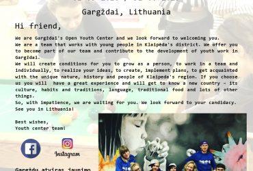Jau rugsėjį Gargžduose planuojamas pradėti tarptautinės savanorystės projektas
