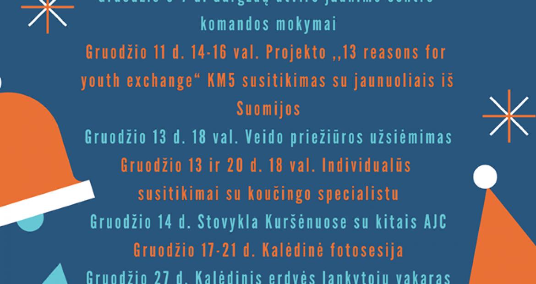 GRUODŽIO MĖNESĮ PAS MUS