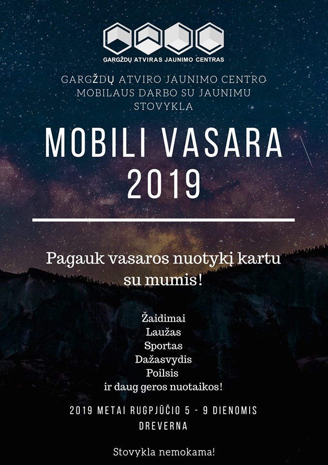 Rugpjūčio 5-9 d. mobilaus darbo stovykla Drevernoje