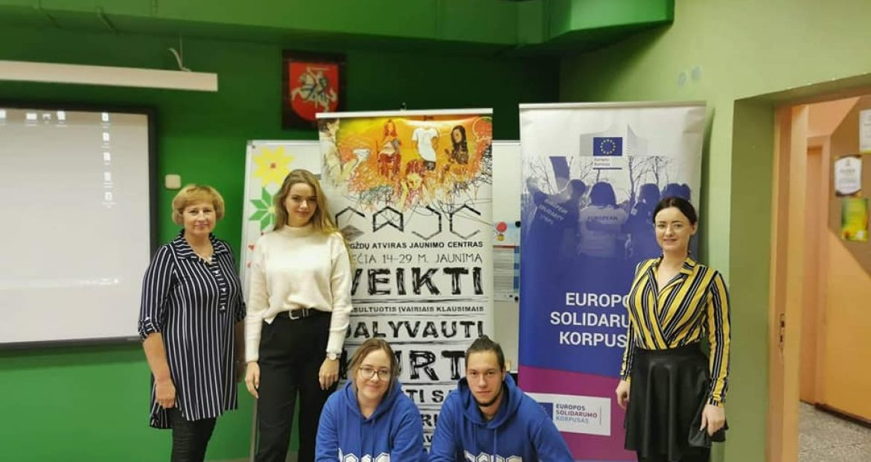 Agluonėnuose pristatėme jaunimo galimybes Klaipėdos rajone ir Europos sąjungoje!