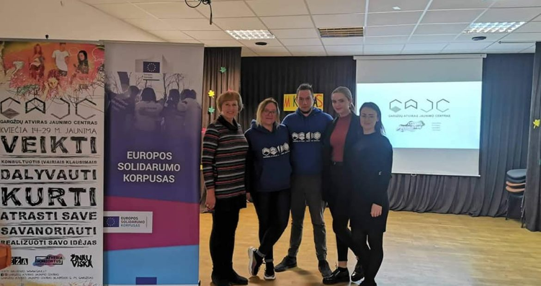 Priekulėje pristatėme jaunimo galimybes Klaipėdos rajone ir Europos sąjungoje!