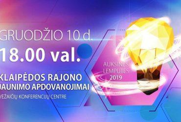 """Klaipėdos rajono jaunimo apdovanojimai """"Auksinės lemputės 2019"""" !"""