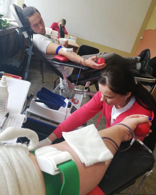 Šiandien davėme kraujo